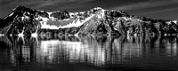 F7813_Crater Lake Pano BW